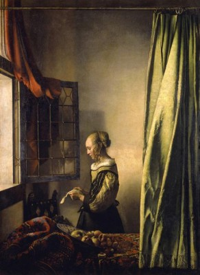Girl reading a letter at an open window - Jan Vermeer