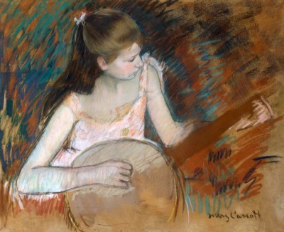 Girl with banjo - Mary Cassatt