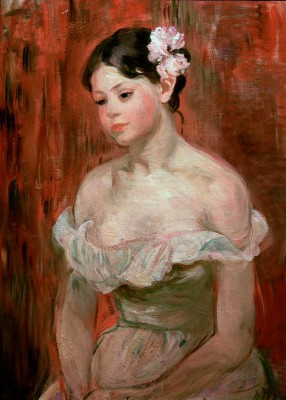 Girl with decollete or The Flower in Hair - Berthe Morisot