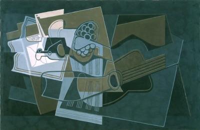 Gitarre und Flasche - Juan Gris