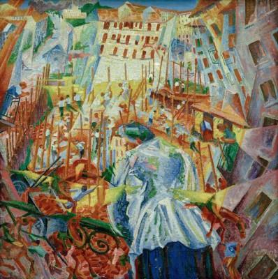 Hałas uliczny wdzierający sie do domu - Umberto Boccioni
