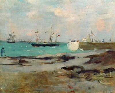Harbour entrance in Boulogne - Berthe Morisot