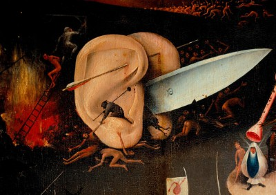 Hell - Detail pair of ears with a blade - Hieronim Bosch