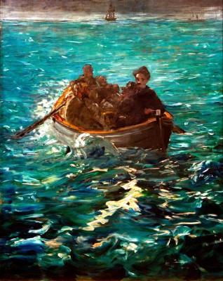 Henri Rochefor's escape – large study - Édouard Manet