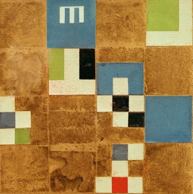 Horizontal vertical composition with elements of objects - Sophie Taeuber-Arp