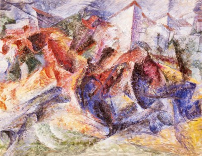 Horse, Rider and Buildings - Umberto Boccioni