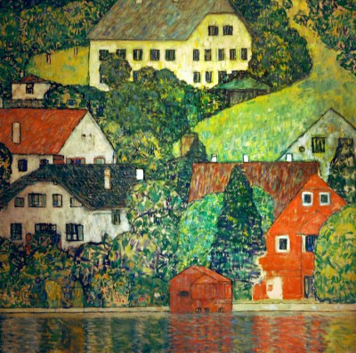 HOUSES IN UNTERACH ON LAKE ATTERE - Gustav Klimt