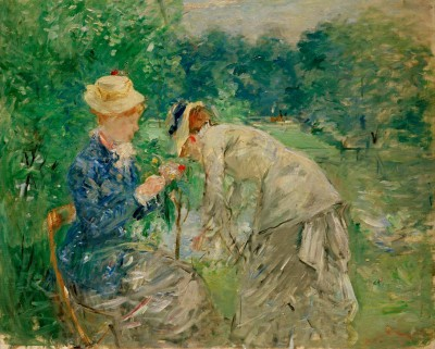 In the Bois de Boulogne - Berthe Morisot
