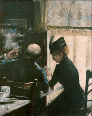 In the cafe - Lesser Ury