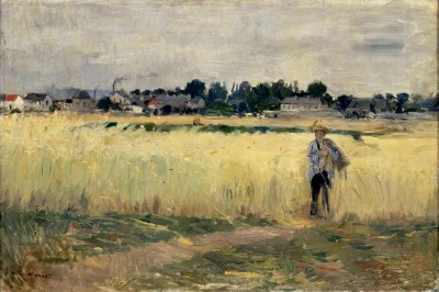 In the cornfields at Gennevilliers - Berthe Morisot