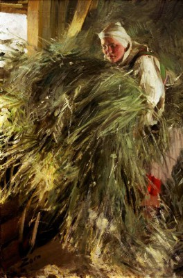 In the Hayloft - Anders Zorn