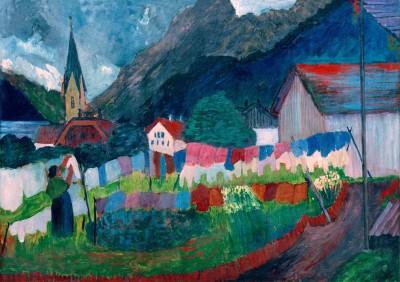In the village - Marianne von Werefkin
