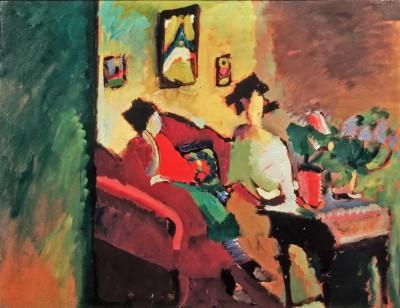 Interieur by W. Kandinsky - Gabriele Münter und Marianne von Werefkin - Marianne von Werefkin