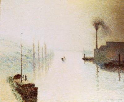 Isle Lacroix, Rouen - Camille Pissarro