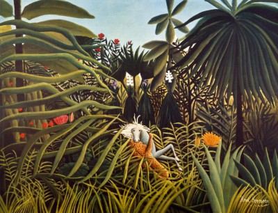 Jaguar attacking a horse - Henri Rousseau