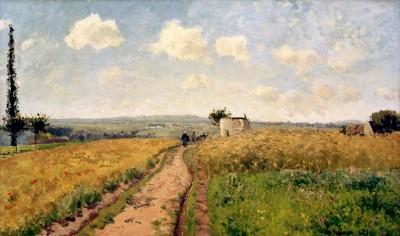 June morning near Pontoise - Camille Pissarro