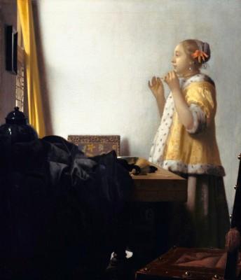 Junge Dame mit Perlenhalsband - Jan Vermeer