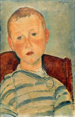 Junge mit gestreiftem Pullover - Amedeo Modigliani