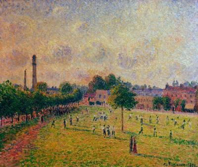 Kew Green (Kew Gardens), London - Camille Pissarro