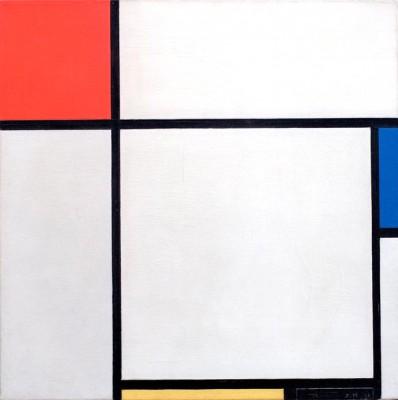 Komposition; Komposition mit Rot, Blau Gelb und Schwarz - Piet Mondrian