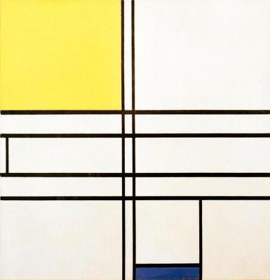 Komposition C; Komposition in Blau und Gelb - Piet Mondrian