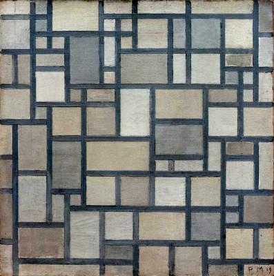 Komposition mit Gitterwerk 7 - Piet Mondrian