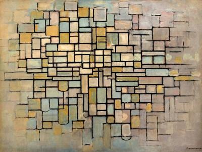 Komposition Nr. II; Composition mit Linien und Farbe - Piet Mondrian