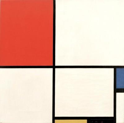 Komposition Nr. III; Komposition mit Rot, Blau, Gelb und Schwarz - Piet Mondrian