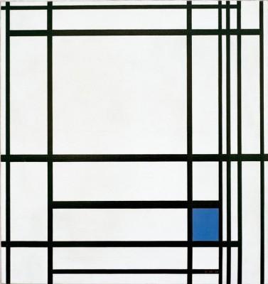 Komposition von Linien und Farbe, III; Komposition mit Blau - Piet Mondrian