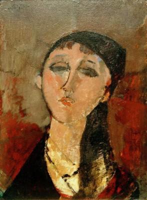 Kopf eines Mädchens - Amedeo Modigliani