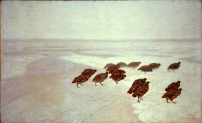Kuropatwy - Józef Chełmoński