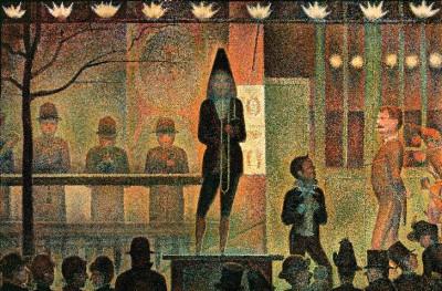 La parade de cirque - Georges-Pierre Seurat