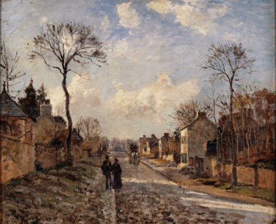 La route de Louveciennes - Camille Pissarro