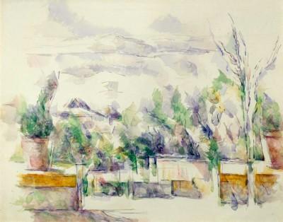 La Terrasse du Jardin des Lauves - Paul Cézanne