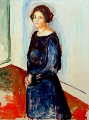 Lady in Blue (Mrs Dr. Barth) - Edvard Munch