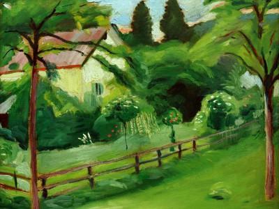 Landhaus mit Garten - August Macke