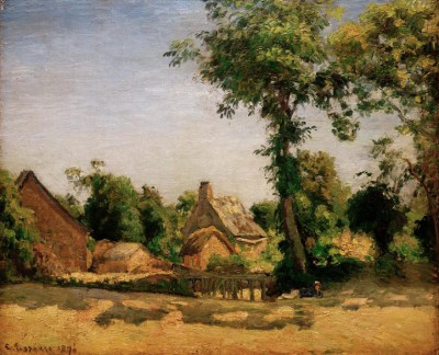 Landscape (Melleraye Village) - Camille Pissarro