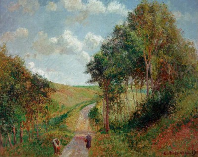 Landscape in Berneval, afternoon - Camille Pissarro