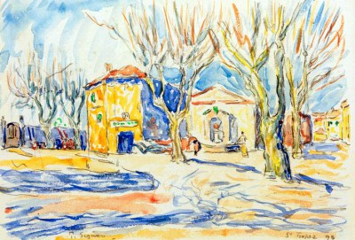 Landscape near Saint-Tropez - Paul Signac