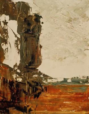 Landscape sketch - Gustave Moreau