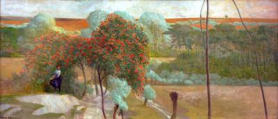 Landscape with birdcage trees I - Jacek Malczewski