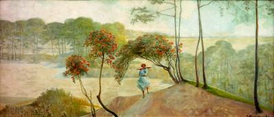 Landscape with birdcage trees II - Jacek Malczewski