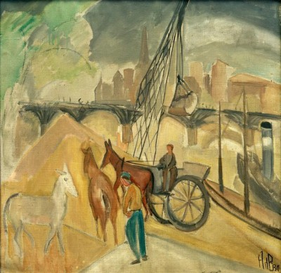 Landscape with bridge - Alma del Banco