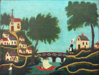 Landscape with bridge - Henri Rousseau