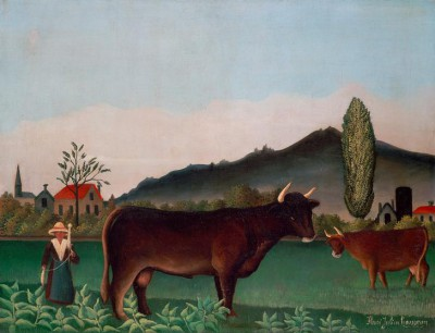 Landscape with Cattle - Henri Rousseau