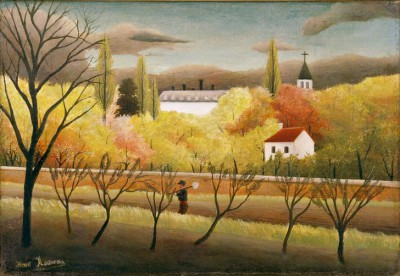 Landscape with farmer - Henri Rousseau
