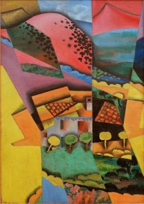 Landschaft bei Ceret - Juan Gris
