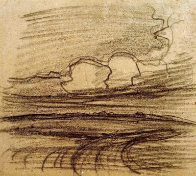 Landschaft bei Oele - Piet Mondrian