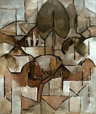 Landschaft mit Bäumen (2) - Piet Mondrian
