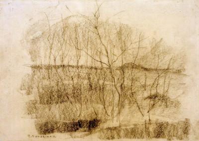 Landschaft mit Bäumen - Piet Mondrian